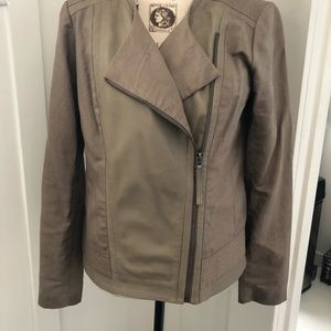 Jackets & Blazers - Lucky Brand leather and cotton motorcycle jacket